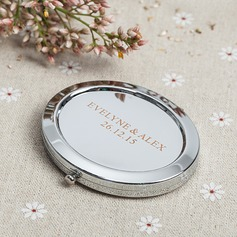Personaliseret Rustfrit Stål Compact Mirror
