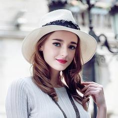 Damen Prächtig/Elegant Bast Stroh Strohhut