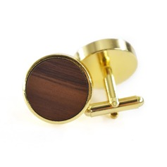 Modern Wood Copper Cufflinks