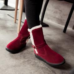 Kvinner Semsket Flat Hæl Flate sko Støvler Ankelstøvler med Annet sko