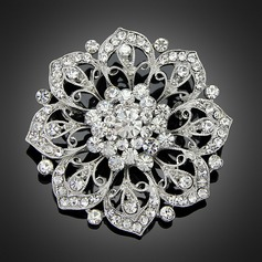 Fancy Alloy/Rhinestones/Imitation Pearls With Rhinestone Ladies' Brooch