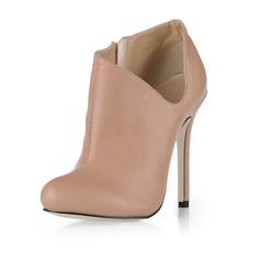 Similpelle Tacco a spillo Punta chiusa Stiletto Stivali alla caviglia