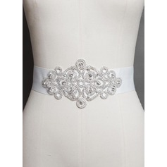Classic Satin Sash With Rhinestones
