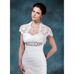 Short Sleeve Lace Wedding Wrap (013004983)