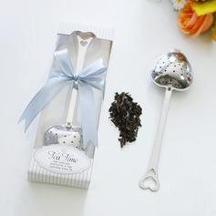 """""""Liebesgeschichte""""/""""Tee Zeit"""" Herzförmige Metall Tee Party Gast-Geschenke mit Bänder"""