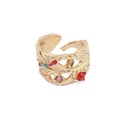 Exotic Alloy With Rhinestone Ladies' Fashion Rings