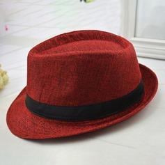 Hommes Style Classique Lin Chapeaux de plage / soleil
