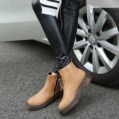 Women's Leatherette Chunky Heel Boots Ankle Boots Snow Boots Martin Boots shoes