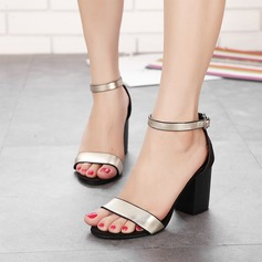 Kvinder Kunstlæder Stor Hæl Kigge Tå sandaler