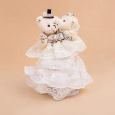 Zarte Ring-Kasten mit Bär Paar
