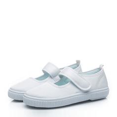 Unisex Geschlossene Zehe Leinwand Leinwand Flache Ferse Flache Schuhe Sneakers & Sport mit Klettverschluss
