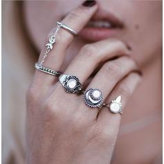 Mote Legering Resin Damene ' Fashion Rings (Sett med 4)