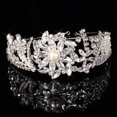 Señoras Maravilloso Rhinestone/Aleación/La perla de faux Tiaras