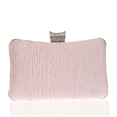 Elegant Satäng Grepp/Handledsväskor/Brudväska/Mode handväskor/Makeup Väskor/Lyx Bag