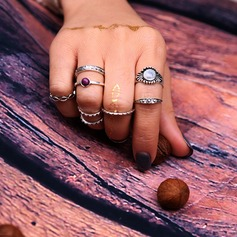 Nydelig Legering Resin Damene ' Fashion Rings (Sett med 5)