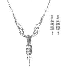 Vakkert kobber/Sølv med Rhinestone Damene ' Smykker Sett (011202559)