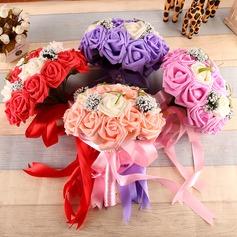 Style Classique Forme libre Soie Bouquets de mariée -