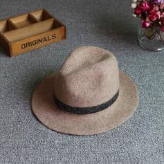 Senhoras Especial Mistura de lã De disquetes Chapéu