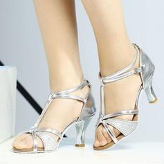 De mujer Sandalias Danza latina con Tira T Zapatos de danza