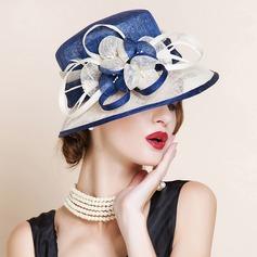 Ladies ' Smukke/Glamourøse/Elegant/Iøjnefaldende Kambriske med Fjer Bowler / Cloche Hat