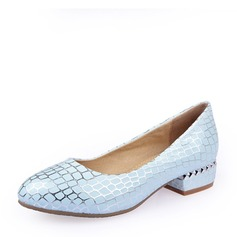 Women's Leatherette Flat Heel Flats Closed Toe With Animal Print Jewelry Heel shoes