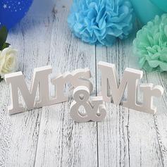 """Clássico/""""Mr. & Mrs."""" Lovely/Elegante PVC Decorações de Casamentos (conjunto de 2)"""