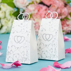 Double Heart Handbag shaped Favor Boxes (Set of 12)