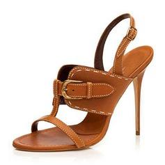 Donna PU Tacco a spillo Sandalo Stiletto Punta aperta Con cinturino Ciabatte con Fibbia scarpe