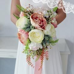 Свободной формы Свадебные букеты/Невесты Букеты -