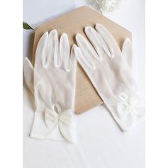 Tule Wrist Lengte Bruids Handschoenen (014203342)
