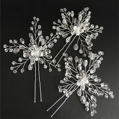 Beautiful Crystal Hairpins (Set of 3)