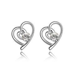Alliage/Cristal Dames Boucles d'oreilles