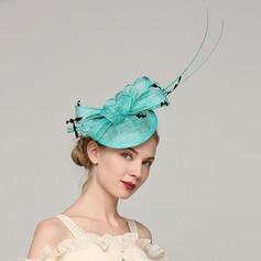 Dames Unique Batiste/Feather avec Feather Chapeaux de type fascinator/Kentucky Derby Des Chapeaux