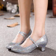Women's Sparkling Glitter Heels Latin Modern Dance Shoes