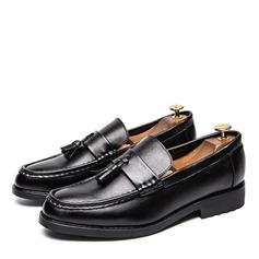 Menn Lær Tassel Loafer Avslappet Loafers til herre