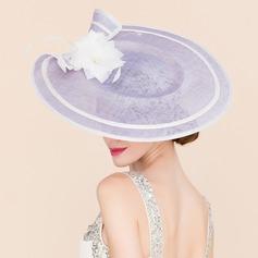 Senhoras Único Cambraia com Flor de seda Fascinators/Chapéu de Coco / Cloche de Chapéu
