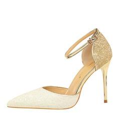 Kvinnor Glittrande Glitter Spool Heel Stängt Toe Pumps