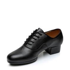 Dos homens Couro verdadeiro Tênnis Moderno com Aplicação de renda Sapatos de dança