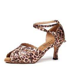 Women's Satin Heels Latin Dance Shoes