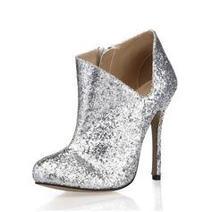 De mujer Brillo Chispeante Tacón stilettos Botas al tobillo zapatos