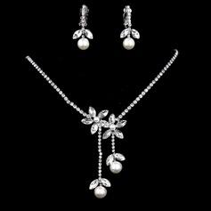 Magnifique Alliage/Strass avec Pearl Femmes Parures