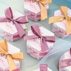 Creative Card Paper Favor Boxes & Containers With Ribbons