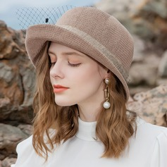 Ladies' Simple/Fancy Polyester With Tulle Beach/Sun Hats