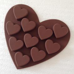 En forma de corazón Silicona Molde de la torta