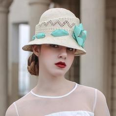 Ladies' Beautiful/Fashion/Glamourous/Elegant/Unique/Amazing/Eye-catching/Charming/Fancy/Romantic/Vintage/Artistic Raffia Straw With Flower Beach/Sun Hats