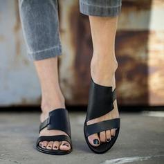 Naisten Keinonahasta Matalakorkoiset Heel Sandaalit Matalakorkoiset Peep toe Kantiohihnakengät jossa Muut kengät
