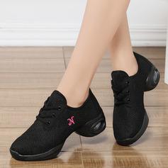 Femmes Similicuir Tissu Tennis Modern Style Jazz Baskets Chaussures de danse