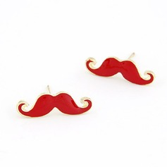 Mustache Alloy Resin Women's Fashion Earrings
