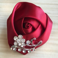 Round Satin Boutonniere (Sold in a single piece) -