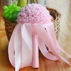 Yksinkertainen ja tyylikäs Pyöreä Vaahto Morsiamen kukkakimppuihin -